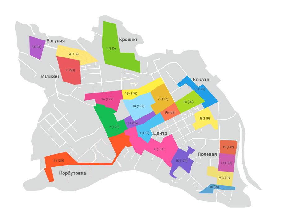 Карта расположения хоумбордов