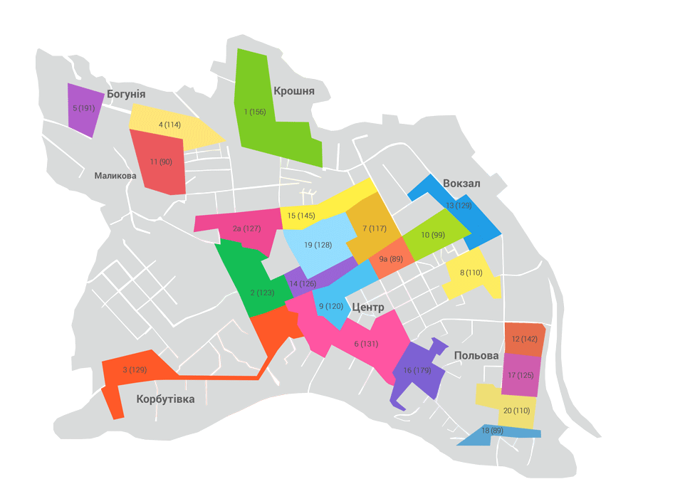 Карта розташування хоумбордів
