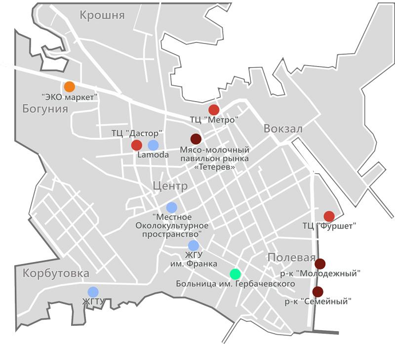 Карта расположения пилларсов