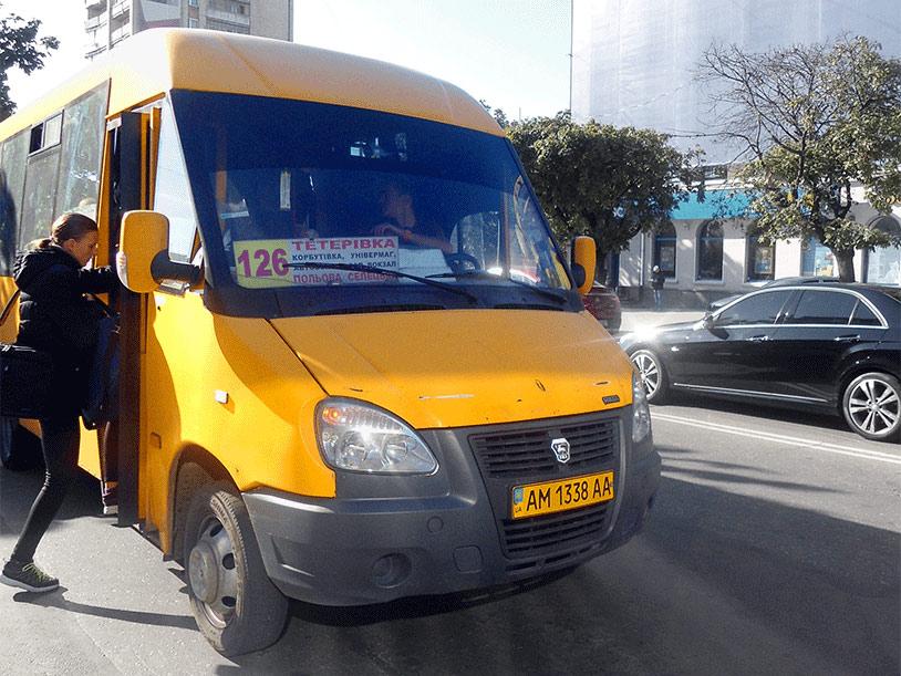 Видеореклама в маршрутках Житомира