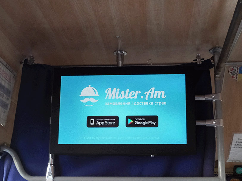 Відеореклама в маршрутках Житомира